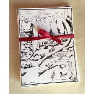 Basilisk Greeting Card Set