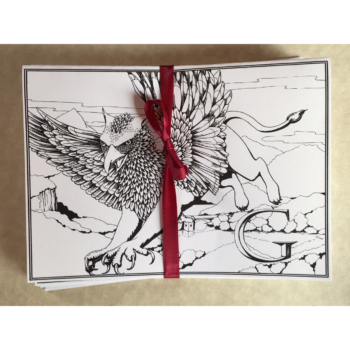 Griffon Greeting Card Set