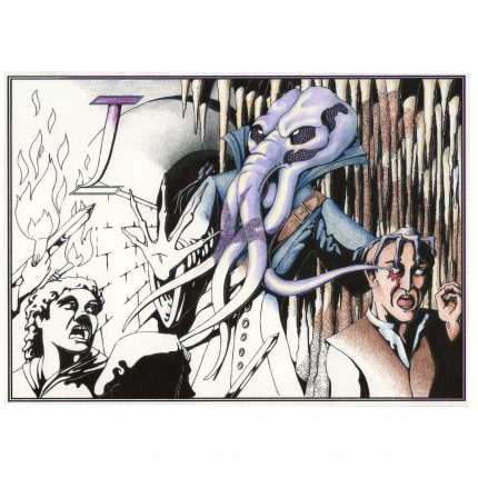 Monster coloring book illithid