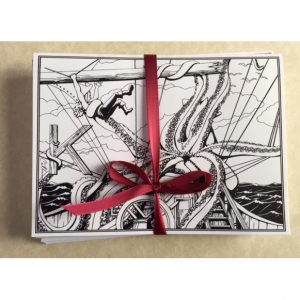 Kraken Greeting Card Set