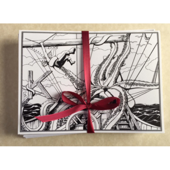 Kraken Greeting Card Set