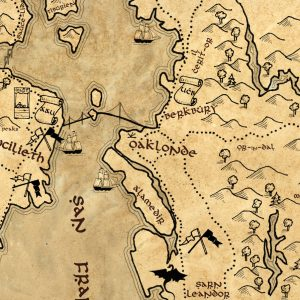 Urban Realms Fantasy Maps of Real Places