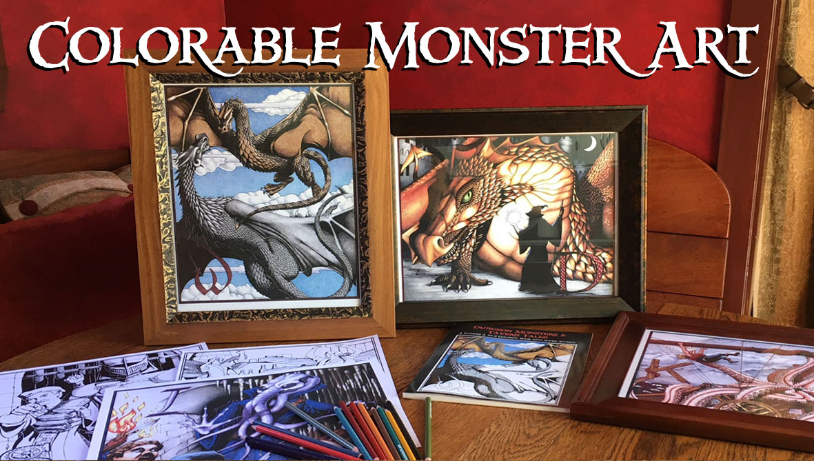 Colorable Monster Art