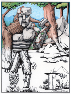 Earth Elemental card or poster